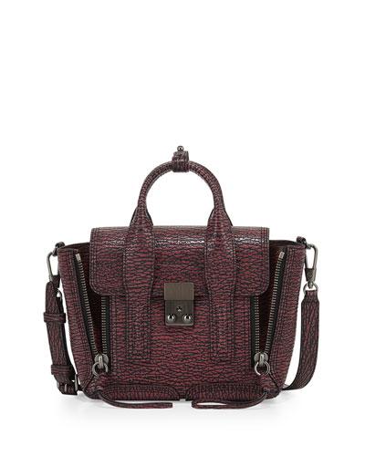 Pashli Mini Satchel Bag, Maroon