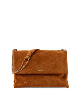 Sugar Medium Suede Shoulder Bag