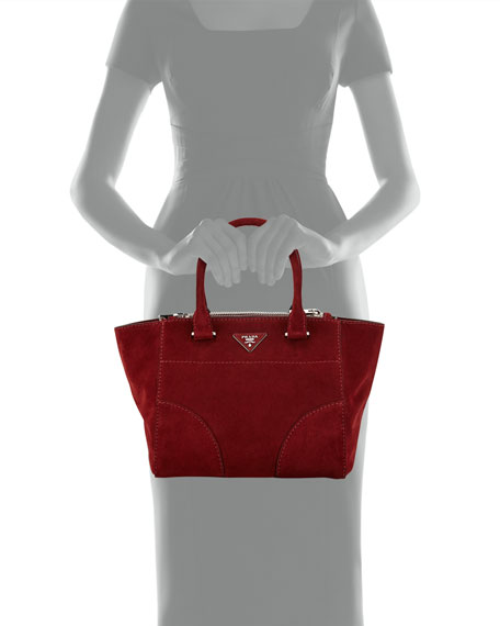 af9792f9bcb Prada Suede Twin-Pocket Tote Bag