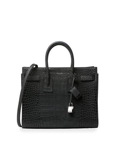 Sac de Jour Alligator Stamped Print Small Carryall Bag