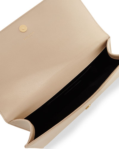 college purse - monogram grain calfskin clutch bag, nude powder