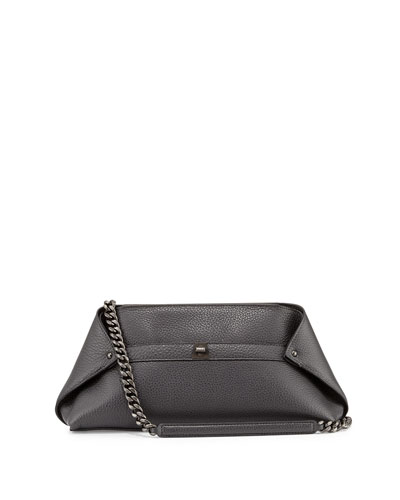 Ai Small Pebbled Leather Pochette Bag