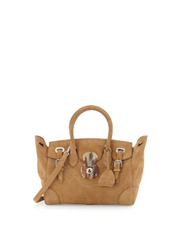 Ricky 27 Soft Suede Satchel Bag, Beige