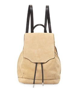 Pilot Suede Drawstring Backpack