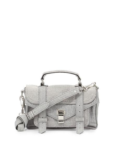 6ed4321851 Proenza Schouler PS1 Tiny Felt   Leather Satchel Bag