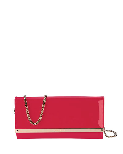 Milla Patent Flap-Top Clutch Bag
