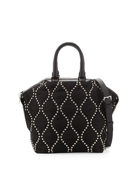 a5ca0cfa08a0 Alexander Wang Emile Studded Nylon Small Tote Bag