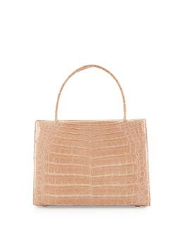 Wallis Small Crocodile Satchel Bag