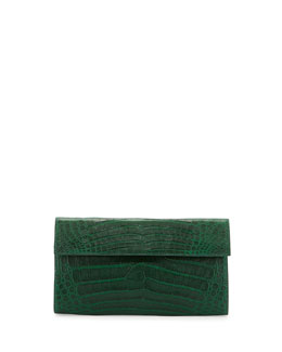 Large Double-Flap Clutch Bag