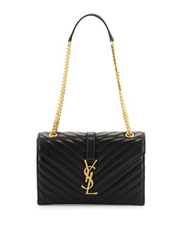 Monogram Medium Shoulder Bag, Black