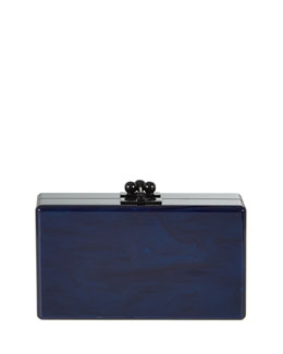 Jean Ribbon Acrylic Clutch Bag
