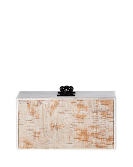 Jean Cork-Inlay Acrylic Clutch Bag
