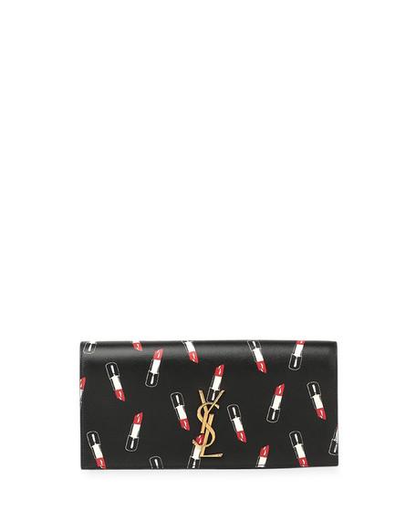 yves st laurent bags - Saint Laurent Monogram Lipstick-Print Clutch Bag