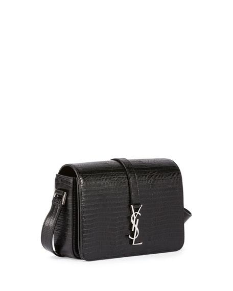 829af7816f8 Saint Laurent Monogram Medium Lizard-Embossed Universite Satchel Bag ...