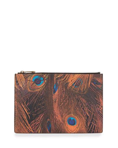 Iconic Prints Faux-Leather Medium Pouch Bag, Multi