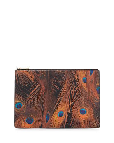 Iconic Prints Faux-Leather Large Pouch Bag, Multi