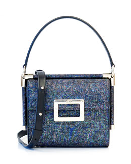 Miss Viv Carre Mini Patent Frame Bag