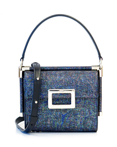 Roger Vivier Miss Viv Carre Mini Leather Frame Bag