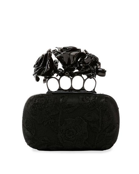 9cc710ce7a44d Alexander McQueen Rose Knuckle-Duster Box Clutch Bag