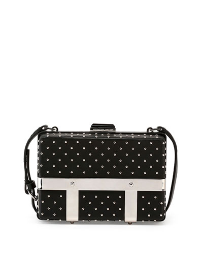 Studded Caged Box Clutch Bag