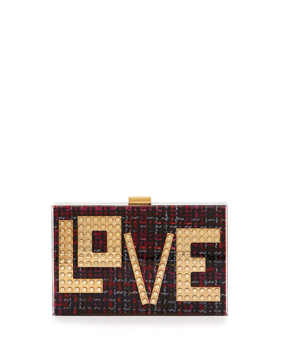 Andy Tweed Love Clutch Bag, Pink