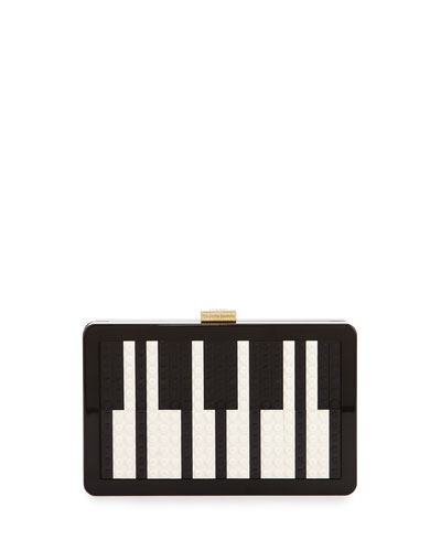Andy Lego® Piano Clutch Bag, Black/White