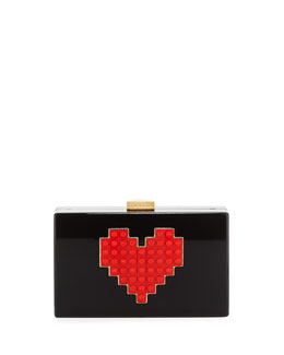 Grace Lolita Lego® Heart Box Clutch Bag