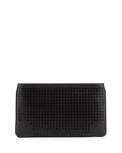 Loubiposh Studded Clutch Bag, Black