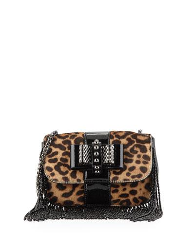 Sweet Charity Mini Fringe Crossbody Bag, Leopard