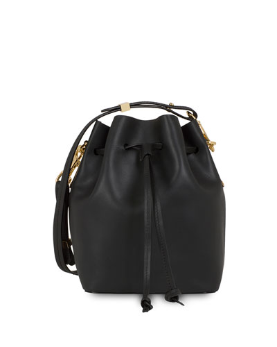 Nelson Small Leather Bucket Bag