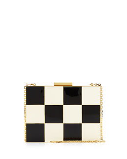 Checkerboard Box Minaudiere Bag