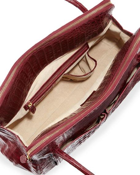 Linda Medium Crocodile Tote Bag