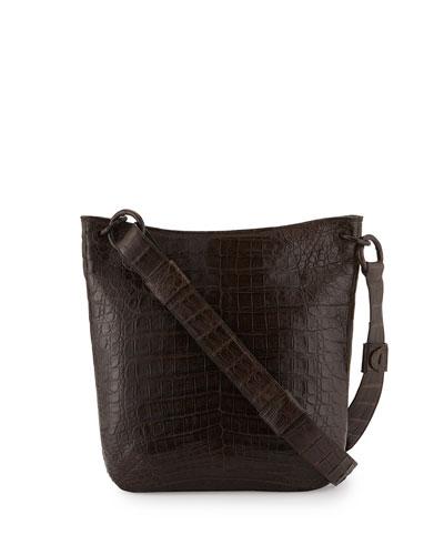Crocodile Messenger Bag