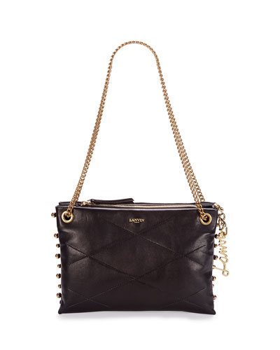 Small Chain Shoulder Bag, Black
