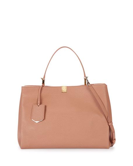 Le Dix Soft Leather Satchel Bag, Rose
