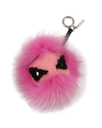 Monster Mixed-Fur Charm for Handbag