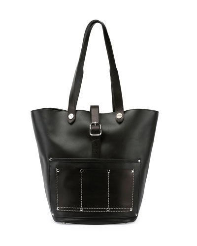 Mason Leather Workman Tote Bag, Black