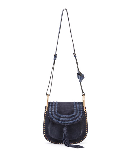 chloe hudson small suede shoulder bag navy. Black Bedroom Furniture Sets. Home Design Ideas