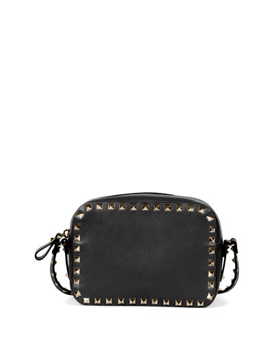 Rockstud Vitello Leather Crossbody Bag