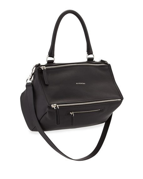 5095a844bb Givenchy Pandora Medium Sugar Satchel Bag, Black