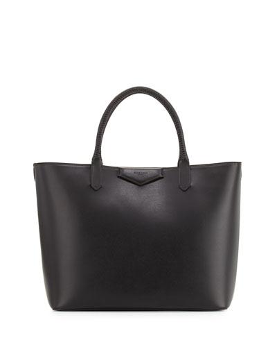 Antigona Whipstitch-Handle Medium Tote Bag, Black