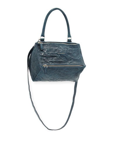 Pandora Small Old Pepe Satchel Bag, Mineral Blue