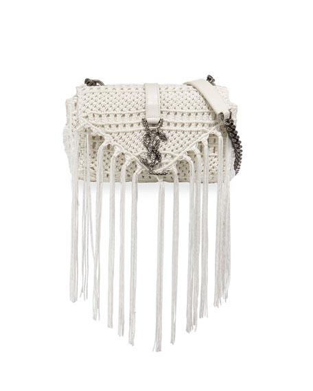 Saint Laurent Monogram Baby Chain Serpent Crochet Crossbody Bag ... e1a19ab82334b