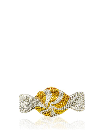 Swirled Candy Crystal Minaudiere, Champagne/Multi
