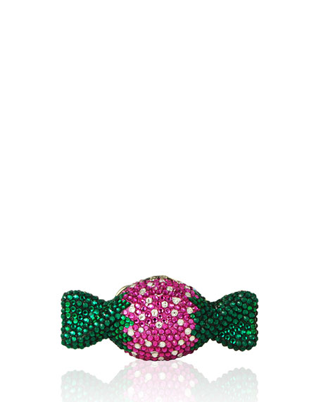 Judith Leiber Couture Strawberry Candy Crystal Minaudiere, Multi