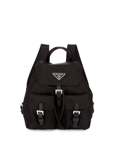 Vela Nylon Crossbody Backpack, Black (Nero)