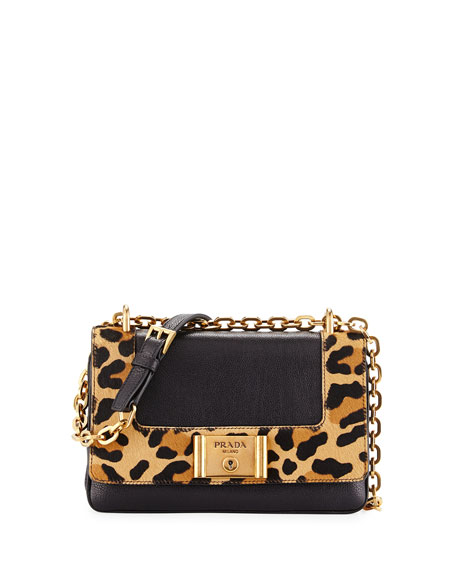 prade bag - prada leopard print tessuto backpack, pink prada purse