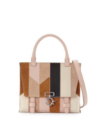 Mini Ave A Patchwork Crossbody Bag, Taupe/Multi