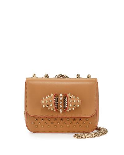Sweet Charity Studded Calfskin Shoulder Bag, Biscuit