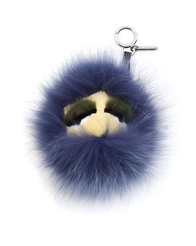 Monster Key Chain, Black/Purple